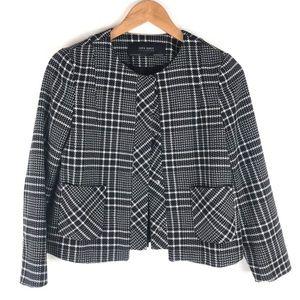 Zara Navy Plaid Blazer Size XS